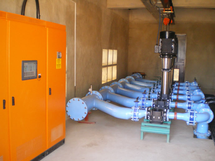 Dynamic Pumps - Eye of Africa Main housing reticulation booster station